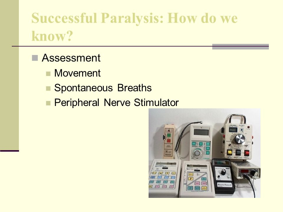 Successful Paralysis: How do we know