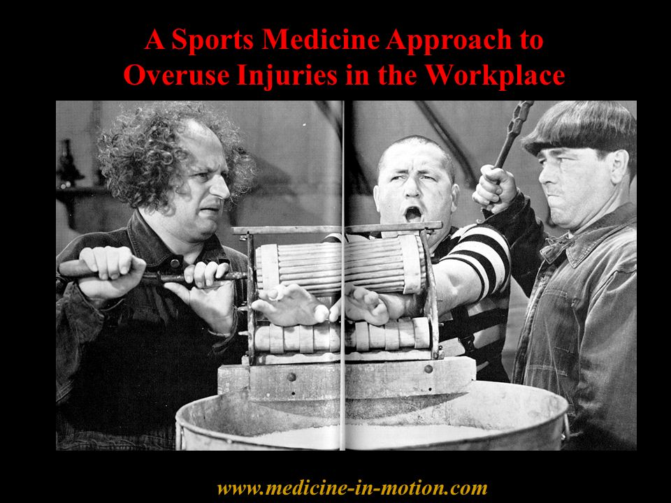 A Sports Medicine Approach to Overuse Injuries in the Workplace