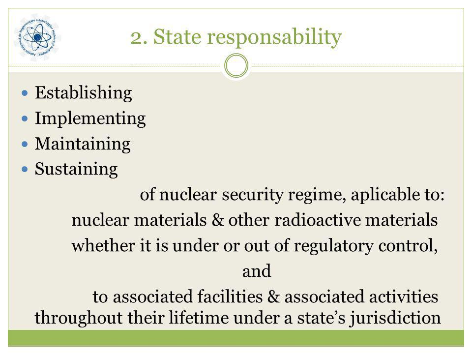 2. State responsability Establishing Implementing Maintaining