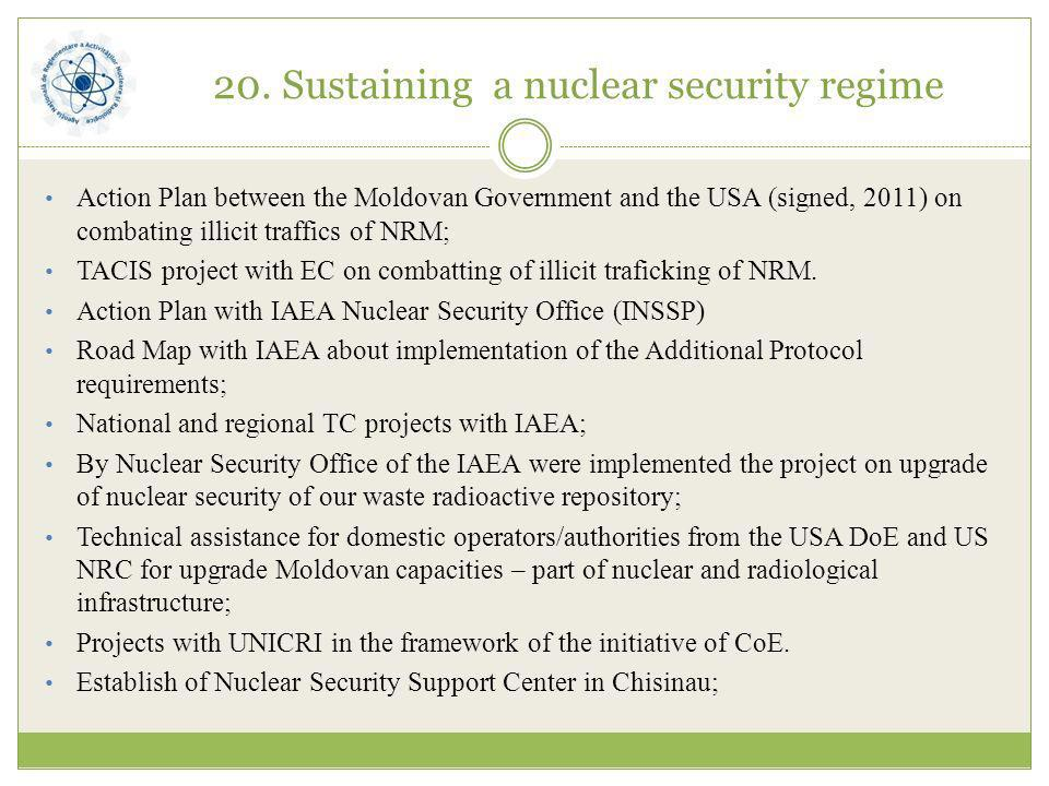 20. Sustaining a nuclear security regime