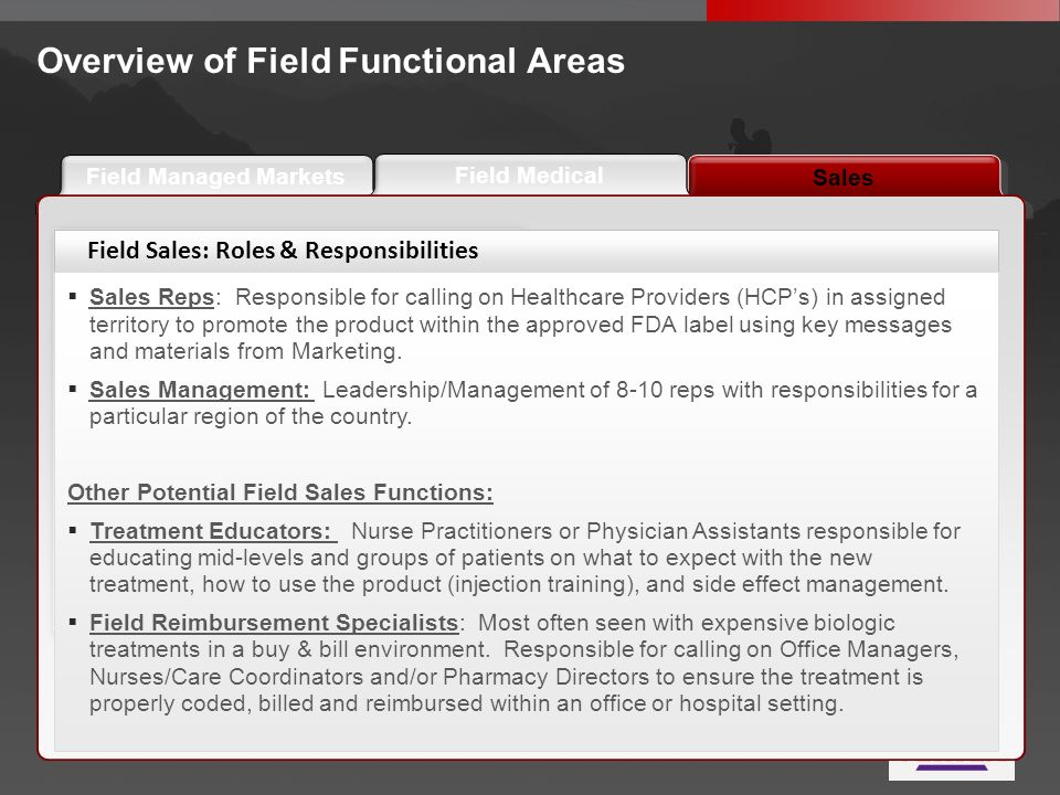 Overview of Field Functional Areas