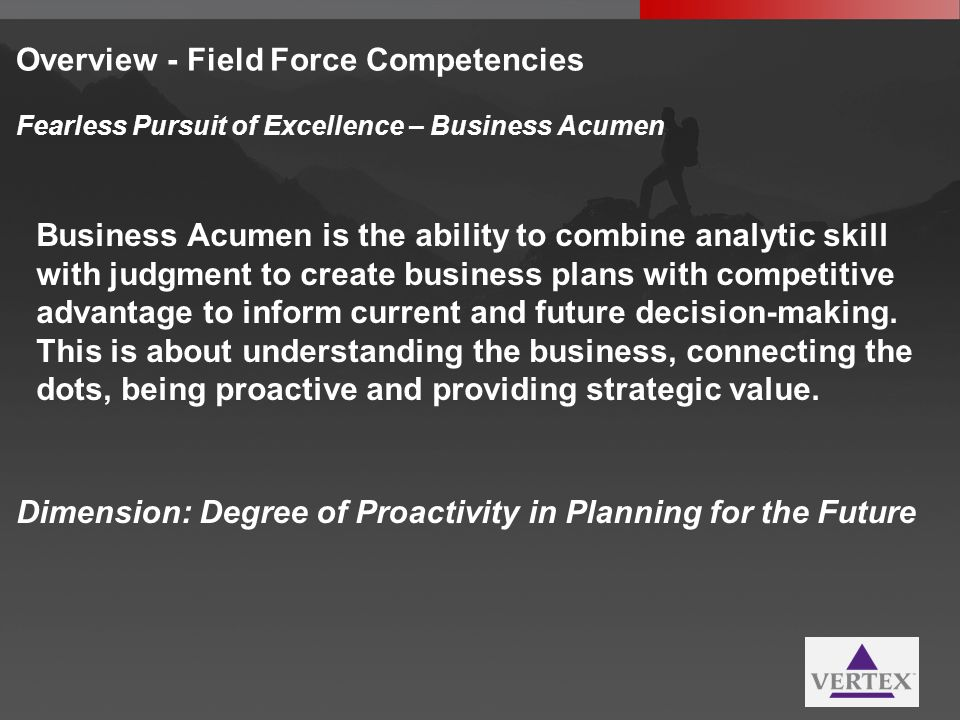 Overview - Field Force Competencies