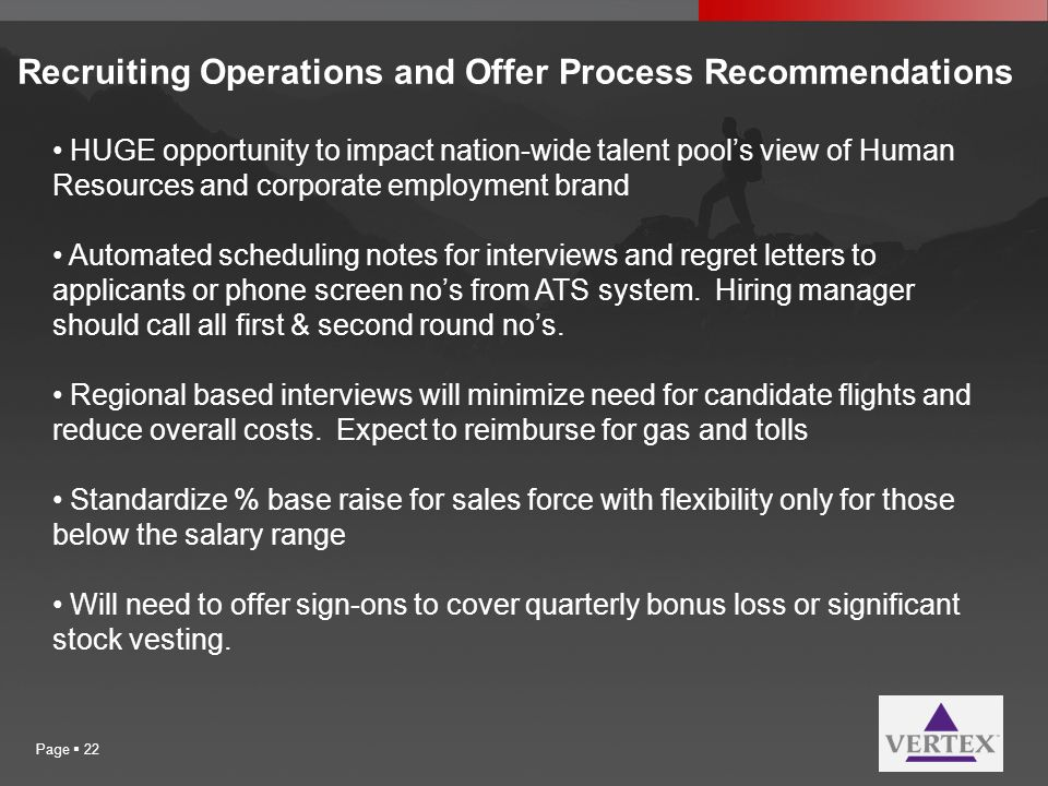 Recruiting Operations and Offer Process Recommendations