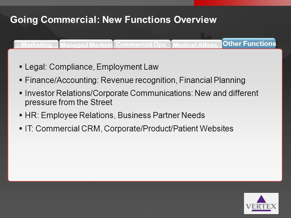 Going Commercial: New Functions Overview
