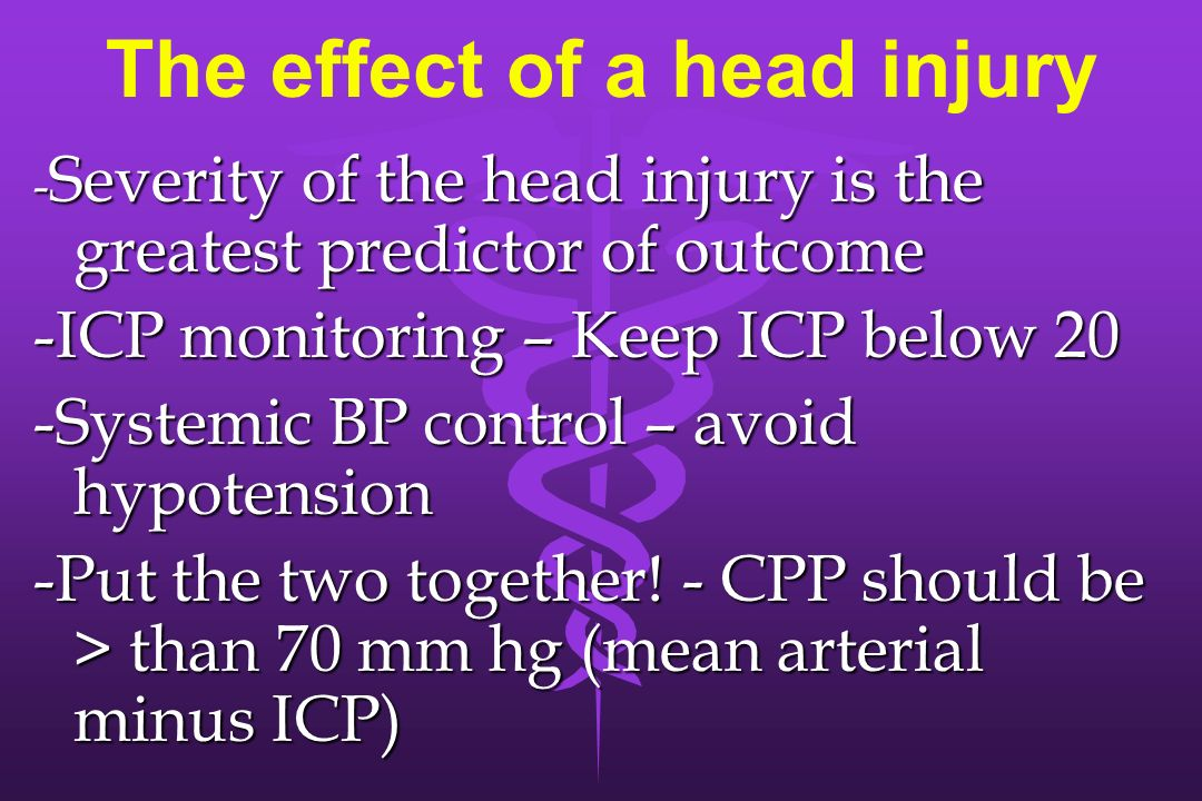The effect of a head injury