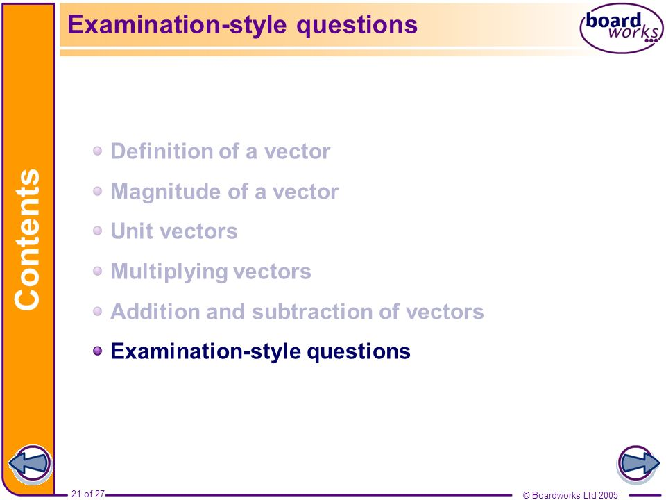 Examination-style questions