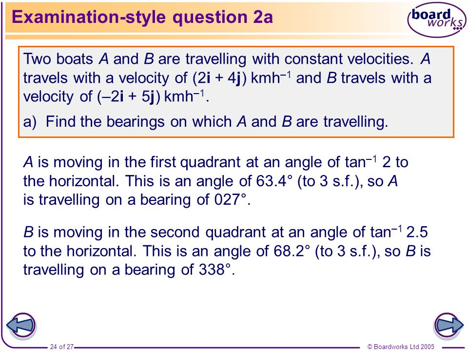 Examination-style question 2a