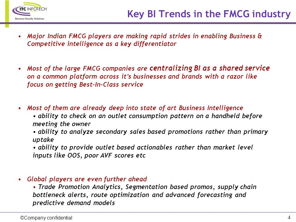 Key BI Trends in the FMCG industry