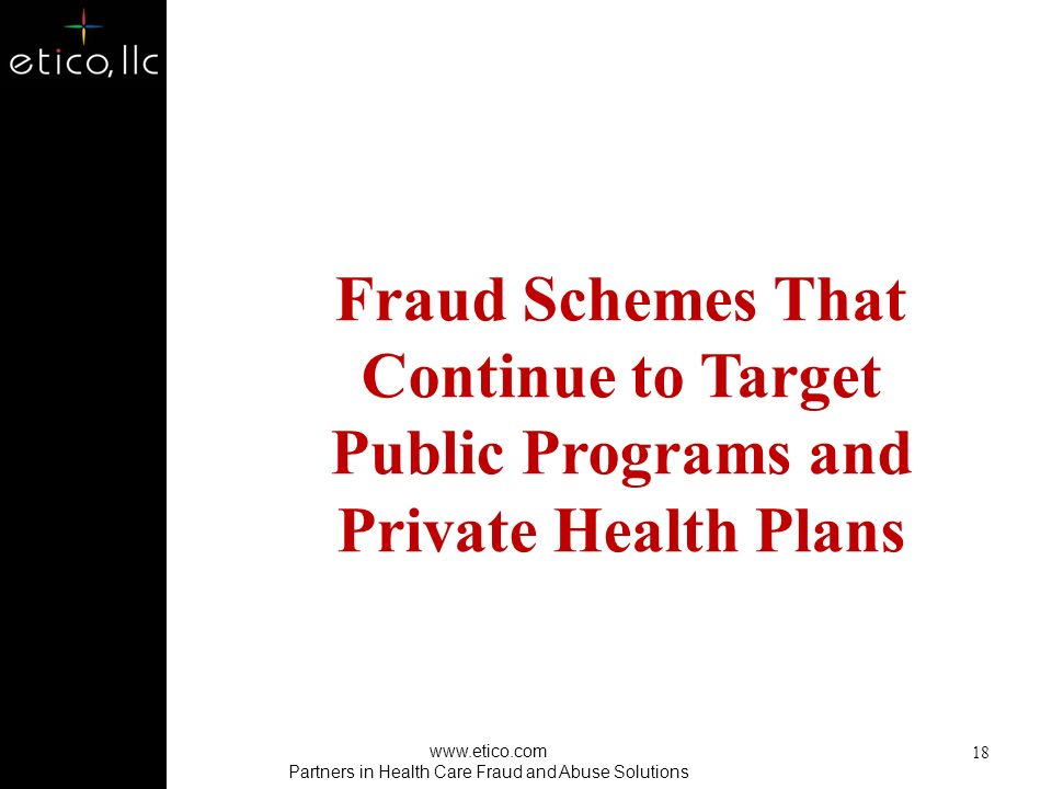 Partners in Health Care Fraud and Abuse Solutions
