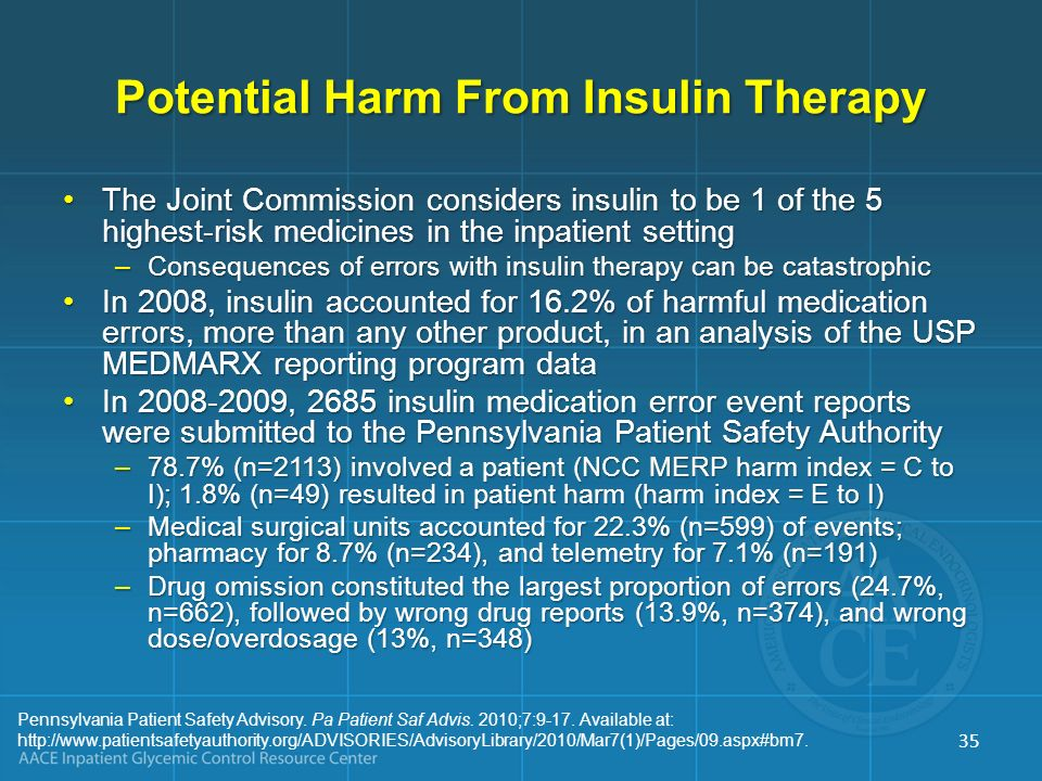 Potential Harm From Insulin Therapy