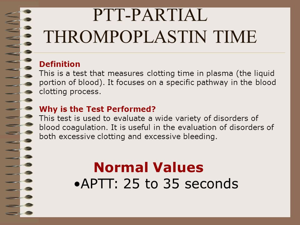 PTT-PARTIAL THROMPOPLASTIN TIME