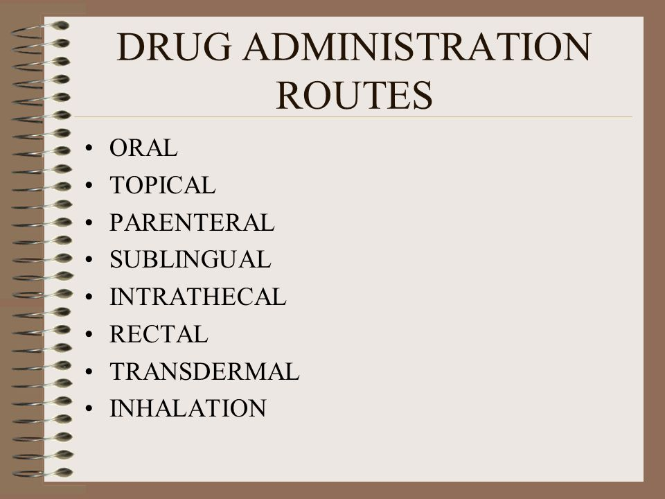 DRUG ADMINISTRATION ROUTES