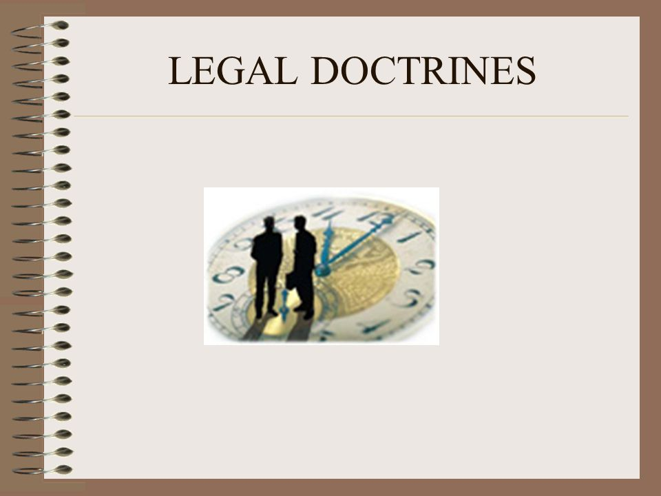 LEGAL DOCTRINES