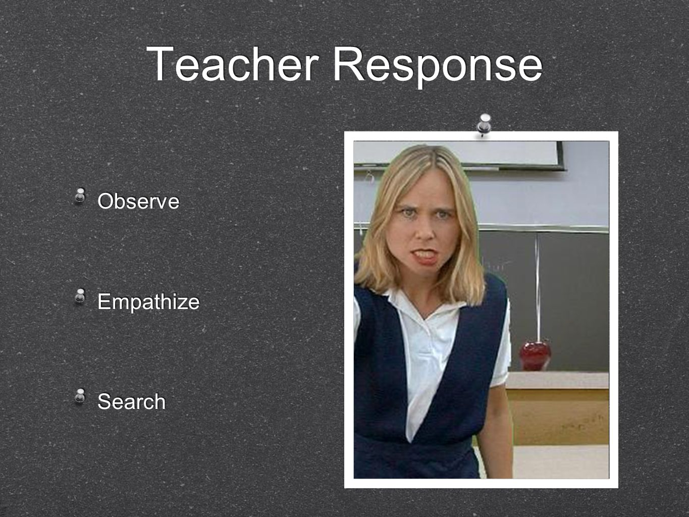 Teacher Response Observe Empathize Search