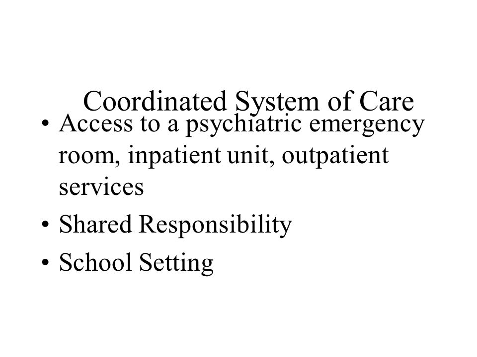 Coordinated System of Care