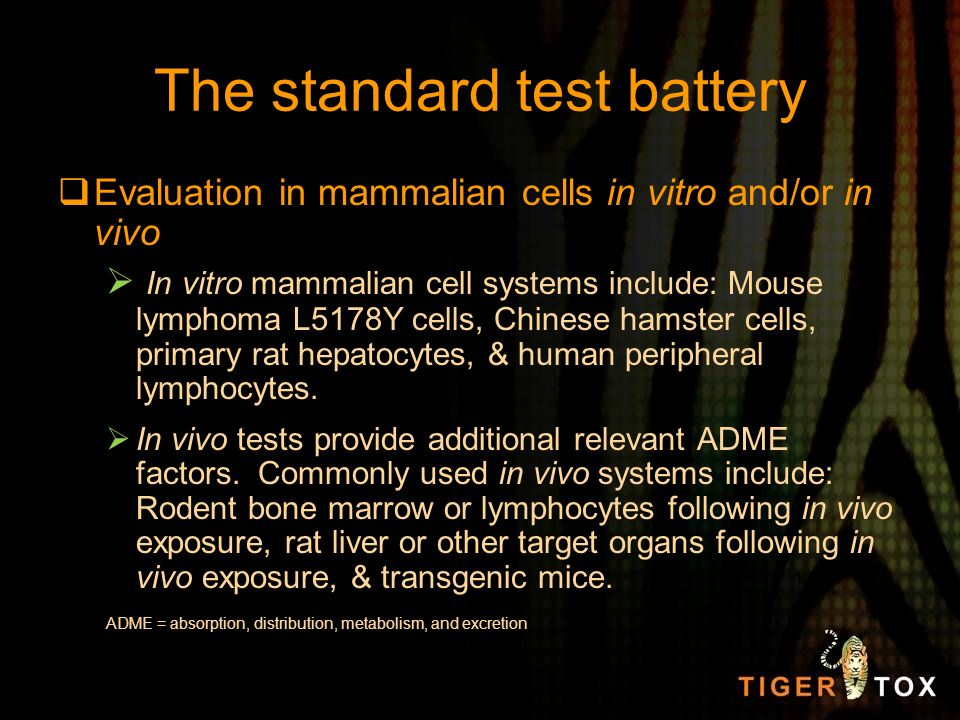 The standard test battery