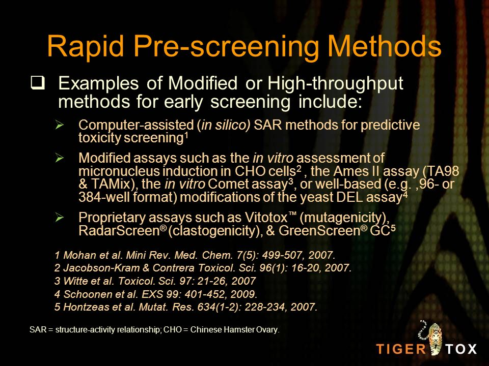 Rapid Pre-screening Methods