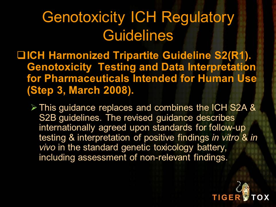 Genotoxicity ICH Regulatory Guidelines