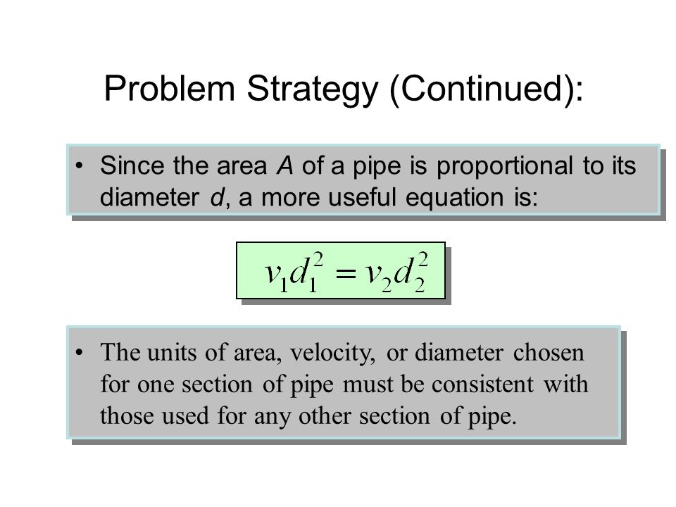 Problem Strategy (Continued):