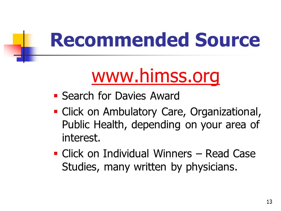 Recommended Source   Search for Davies Award