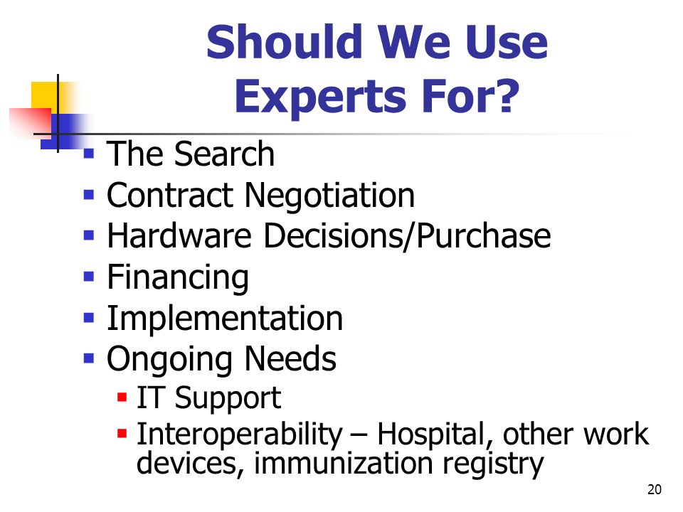 Should We Use Experts For