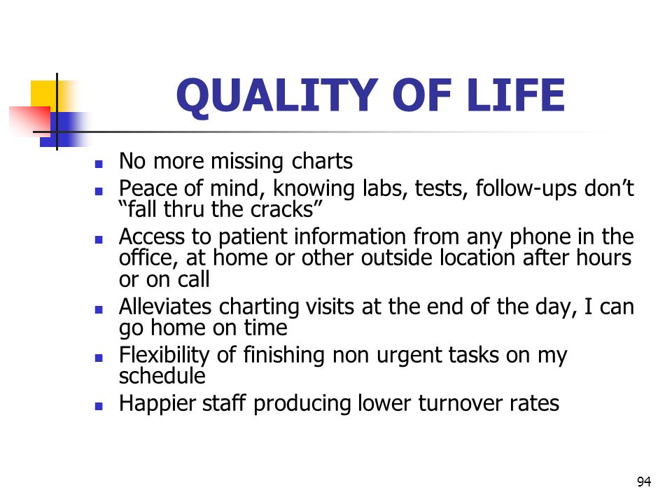 QUALITY OF LIFE No more missing charts
