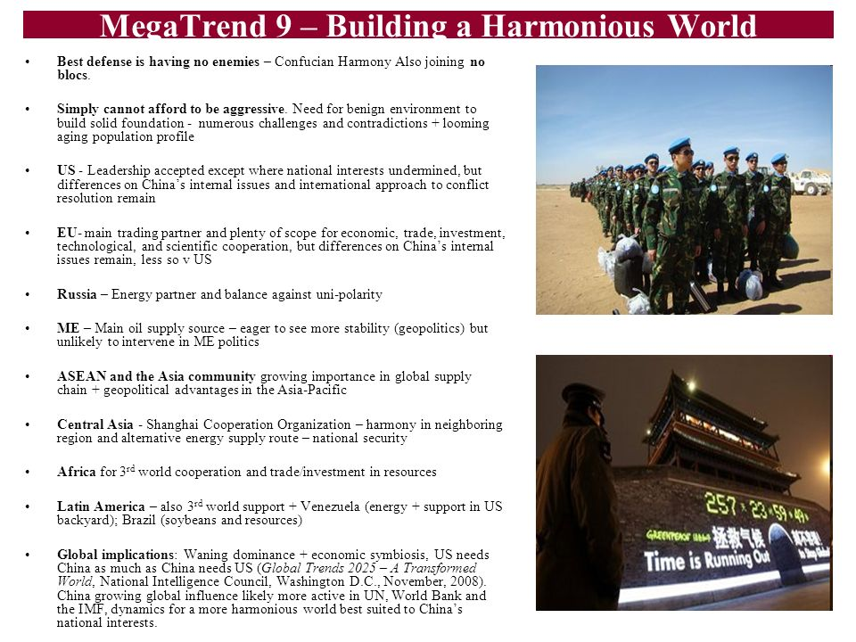 MegaTrend 9 – Building a Harmonious World