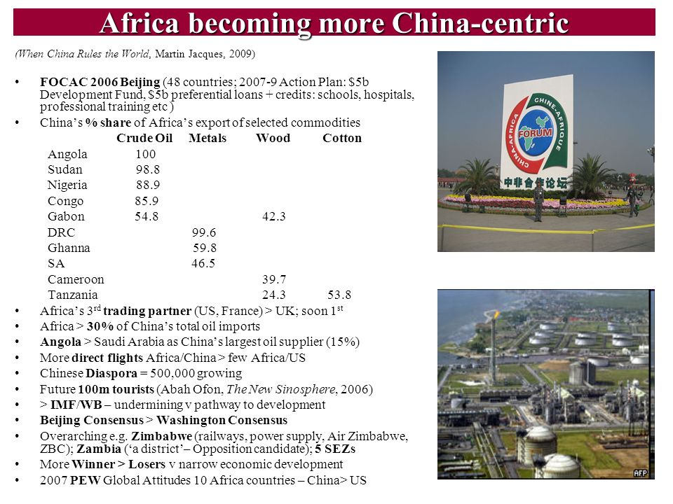 Africa becoming more China-centric