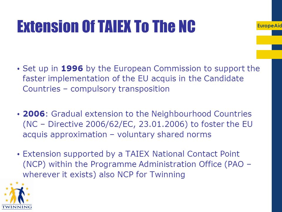 Extension Of TAIEX To The NC