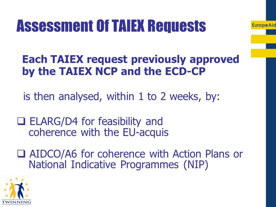 Assessment Of TAIEX Requests