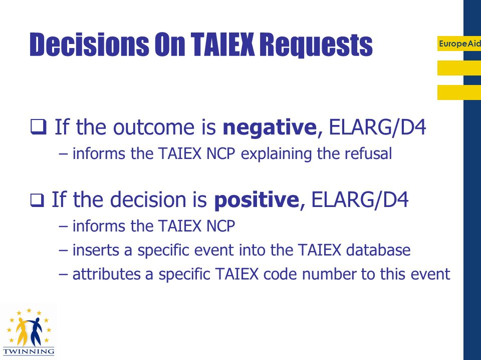 Decisions On TAIEX Requests