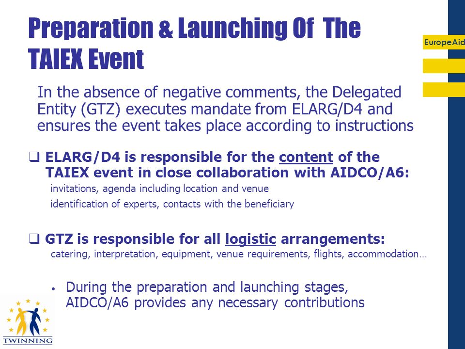 Preparation & Launching Of The TAIEX Event
