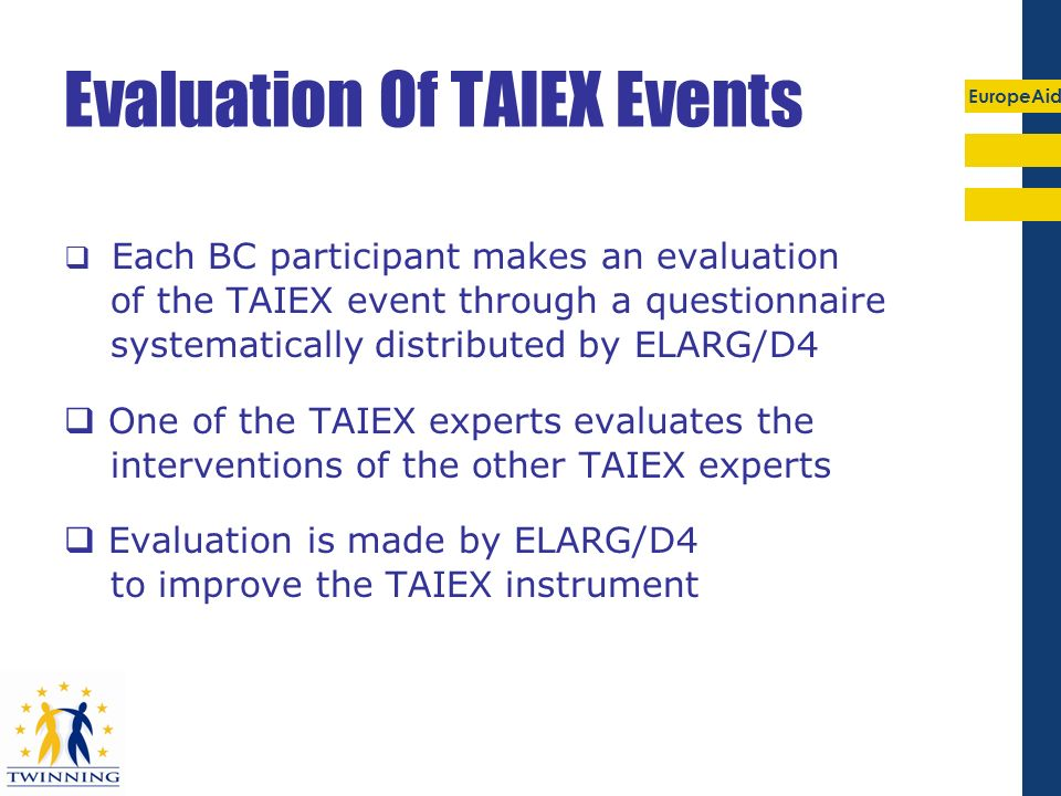 Evaluation Of TAIEX Events