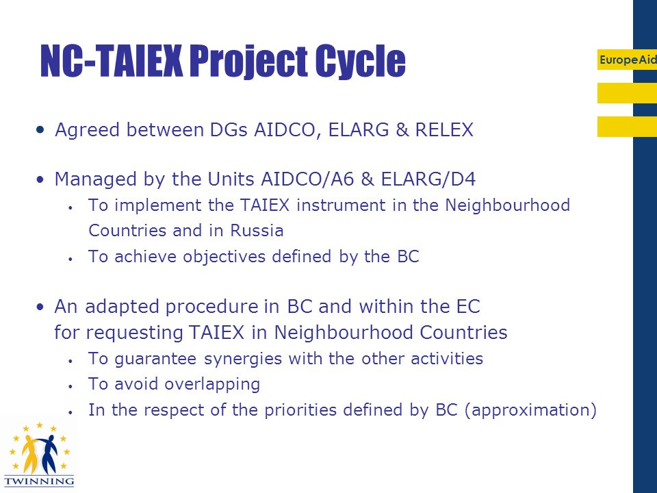 NC-TAIEX Project Cycle