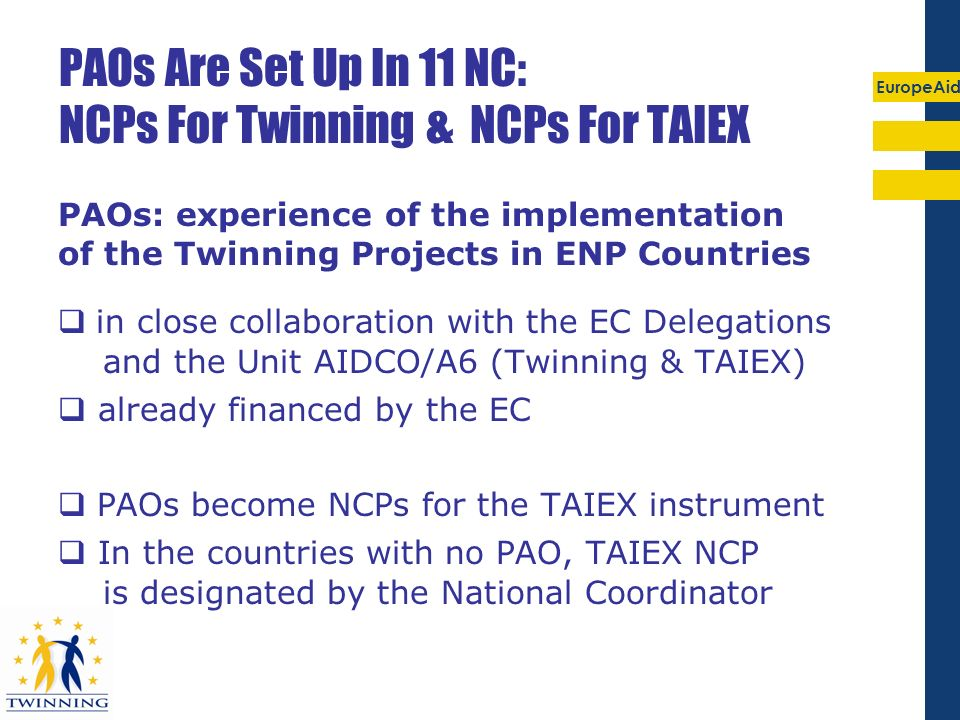 PAOs Are Set Up In 11 NC: NCPs For Twinning & NCPs For TAIEX