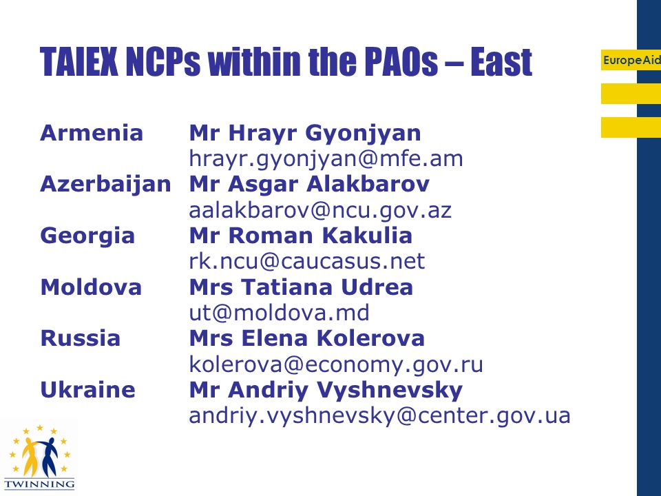 TAIEX NCPs within the PAOs – East