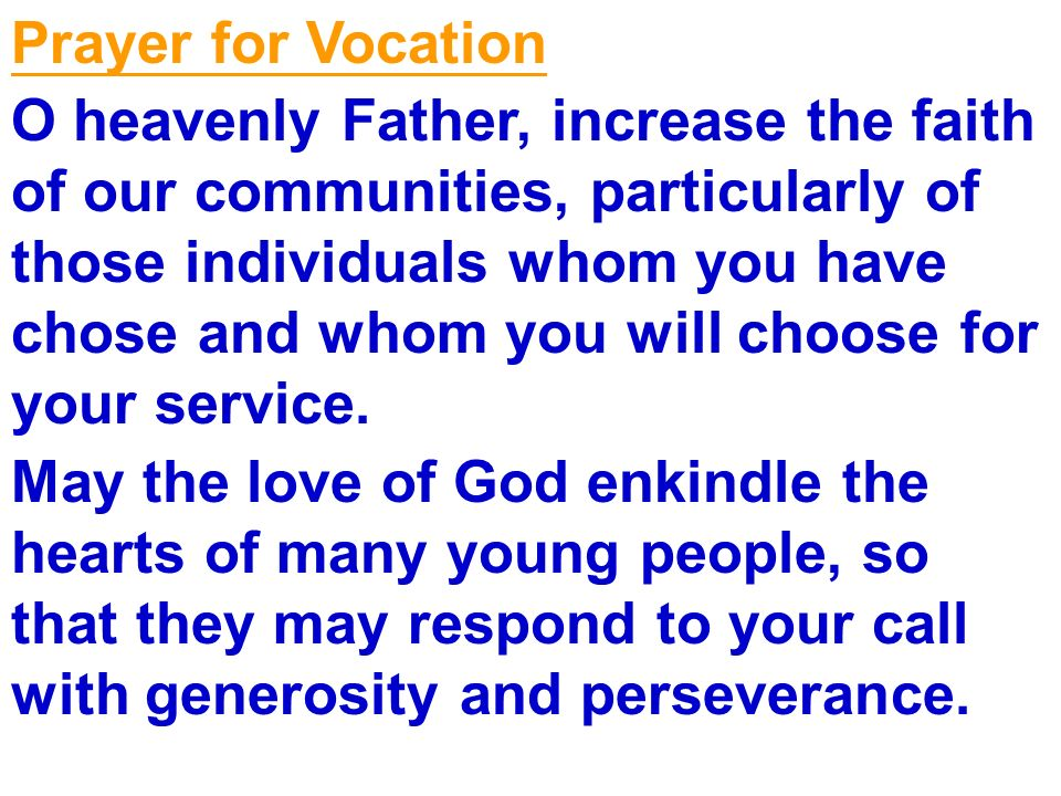 Prayer for Vocation
