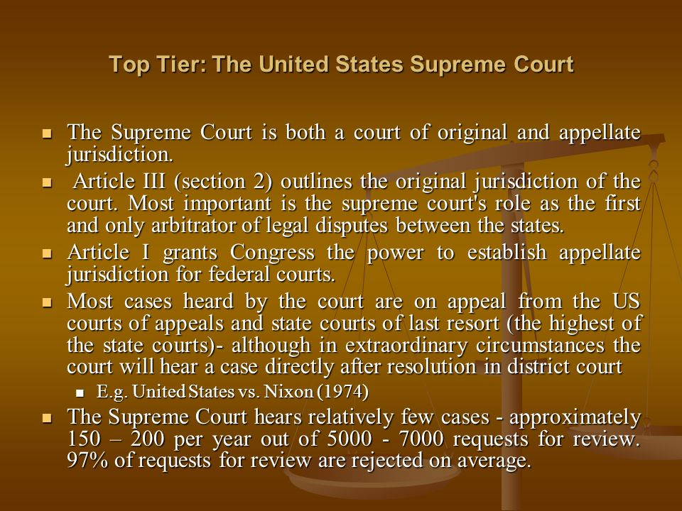 Top Tier: The United States Supreme Court