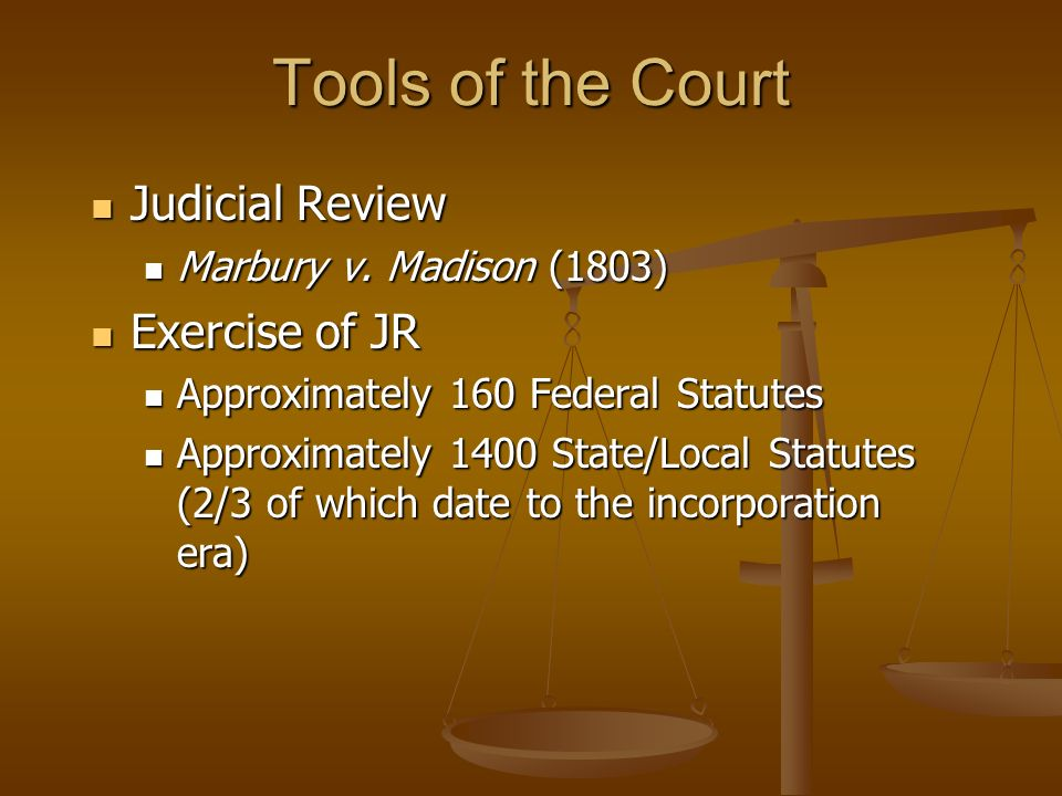 Tools of the Court Judicial Review Exercise of JR