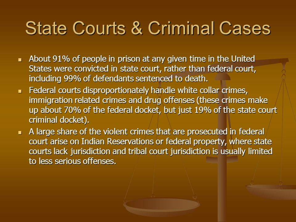 State Courts & Criminal Cases
