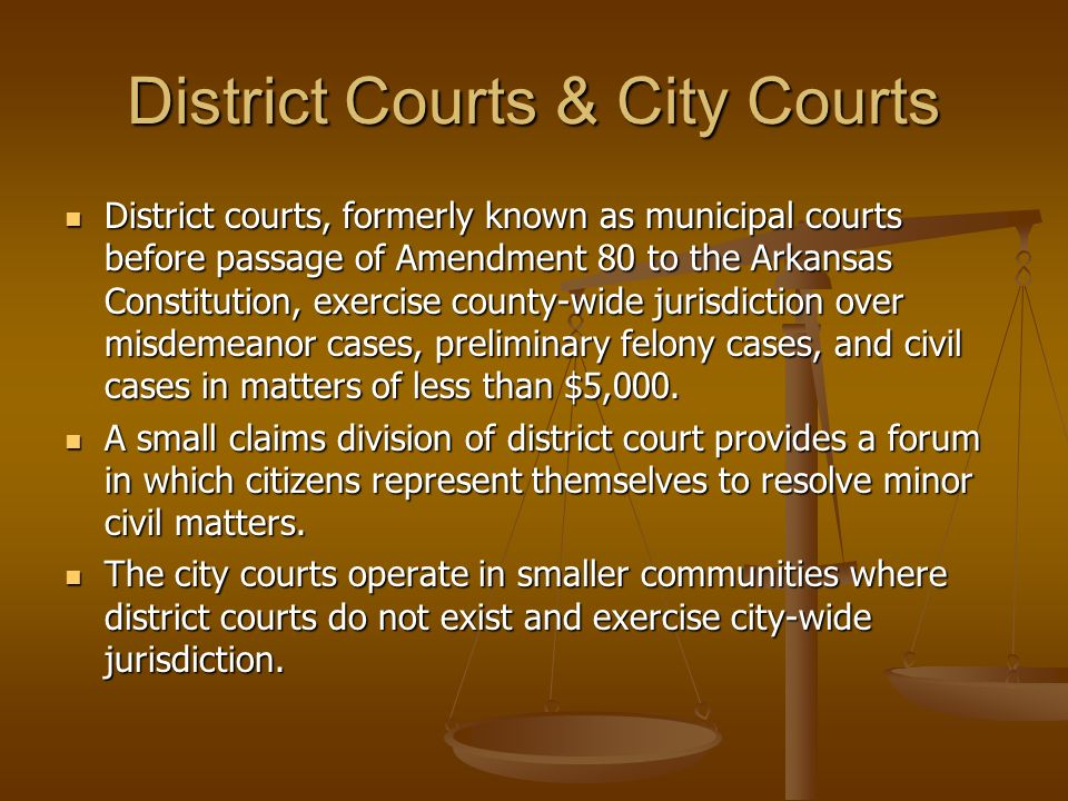 District Courts & City Courts