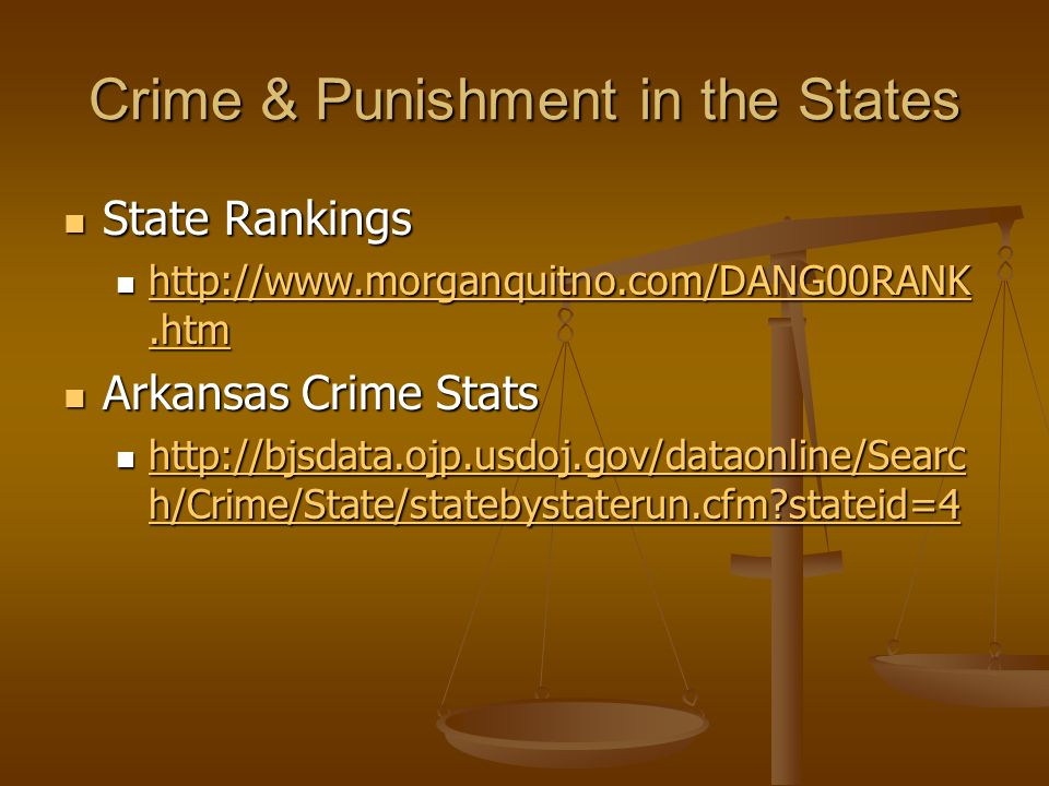 Crime & Punishment in the States