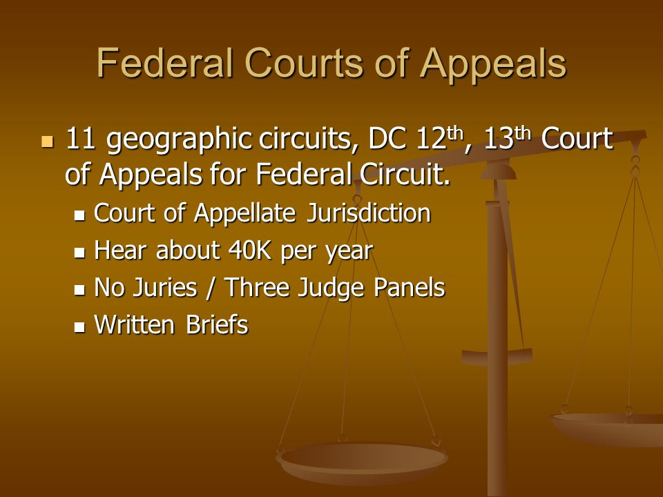 Federal Courts of Appeals
