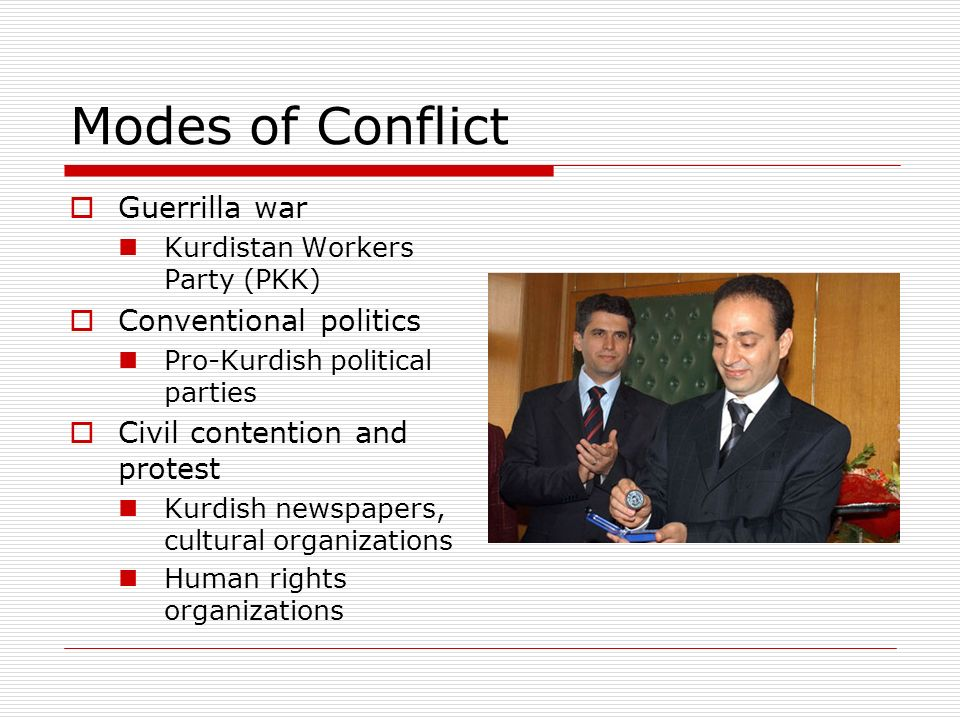 Modes of Conflict Guerrilla war Conventional politics