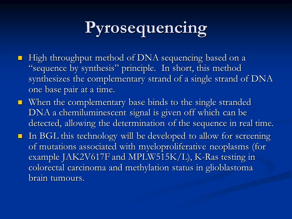 Pyrosequencing