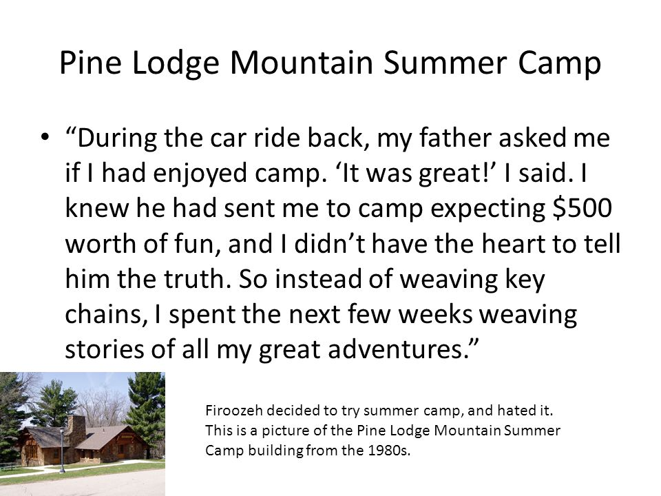 Pine Lodge Mountain Summer Camp