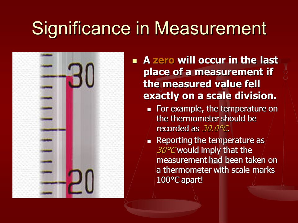 Significance in Measurement