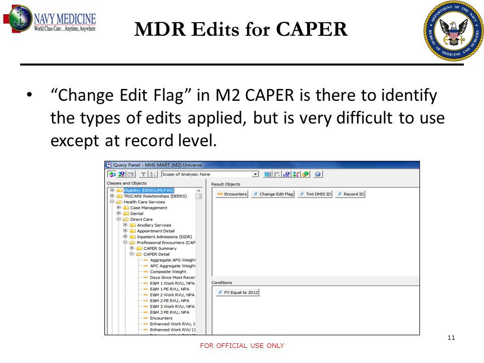 MDR Edits for CAPER