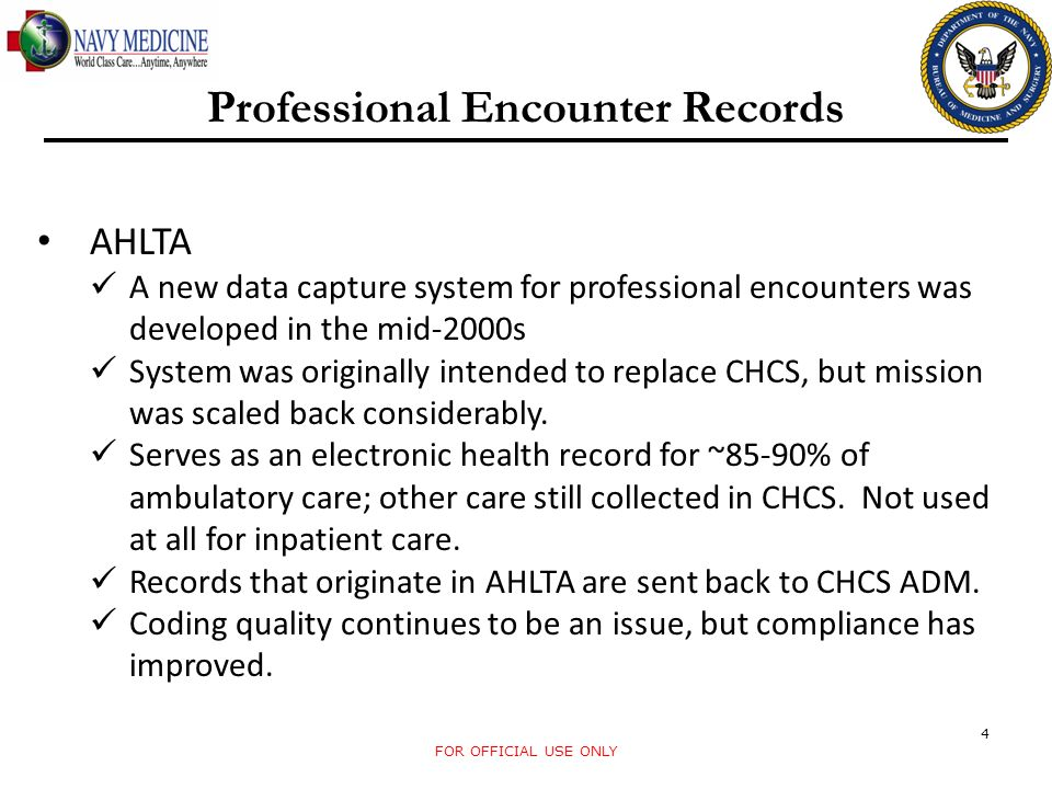 Professional Encounter Records