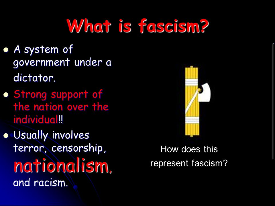 How does this represent fascism